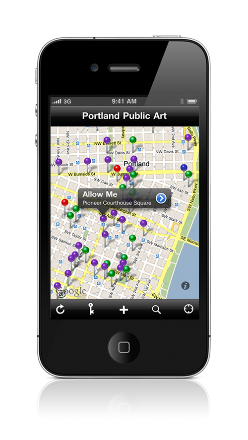 Public Art PDX Map View
